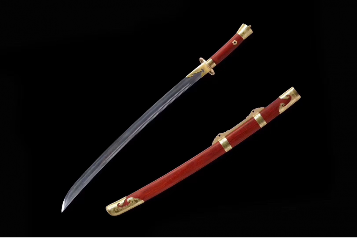 Battle Traditional Hand Forged Chinese Sword Qing Dao Clay Tempered Folded Steel Blade Razor Sharp