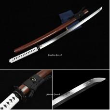 Handmade Battle Ready Japanese Samurai Katana Sword Clay Tempered T10 Steel Razor Sharp Blade