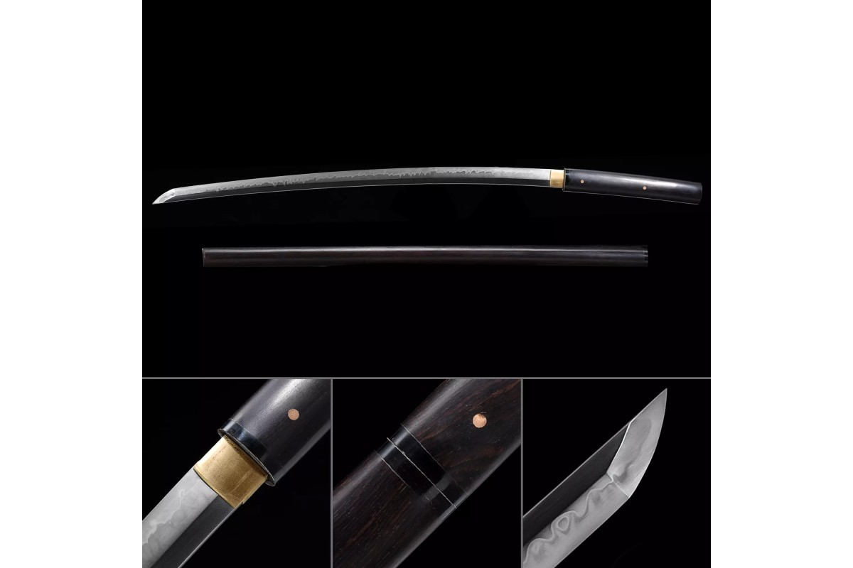 Japanese Clay Tempered T10 Steel Katana Swords Samurai Shirasaya Sword Razor Sharp Blade