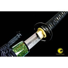 Clay Tempered Japanese Katana Sword T10 Folded Steel Blade Razor Sharp