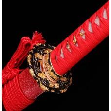 Japanese Katana Swords Clay Tempered Kobuse Folded Steel Samurai Swords Razor Sharp Choji Hamon Blade