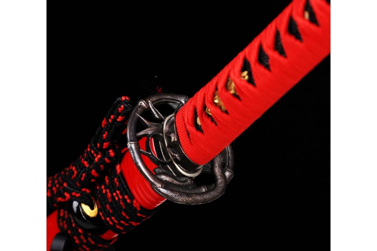 Japanese Katana Swords Clay Tempered Hitatsura Choji Hamon Samurai Sword Razor Sharp Blade