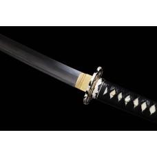 Japanese Katana Swords Clay Tempered L6 Steel Suguha Hamon Samurai Sword Razor Sharp Blade