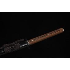 Handmade Samurai Clay Tempered L6 Steel Katana Swords Razor Sharp Blade