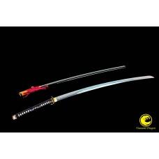 Battle Ready Japanese Samurai Clay Tempered T-10 High Carbon Steel Nodachi Sword