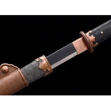 Battle Traditional Hand Forged Chinese Sword Sui Dao Clay Tempered Folded Steel Blade Razor Sharp