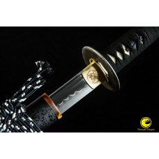 Clay Tempered Japanese Katana T10 Steel Sword Unokubi Zukuri O-kissaki Shinken