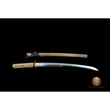 Battle Ready Clay Tempered Japanese Unokubi Zukuri T10 Steel Blade Wakizashi Sword Choji Hamon Razor Sharp