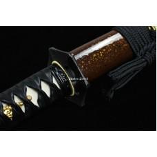 Japanese Samurai Katana Sword Clay Tempered Unokubi Zukuri T10 Steel Razor Sharp Blade