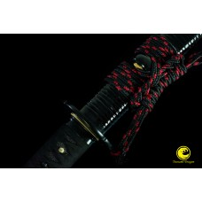 Japanese Clay Tempered Wakizashi Shihozume Lamination Folded Steel Blade Sword Full Tang Razor Sharp
