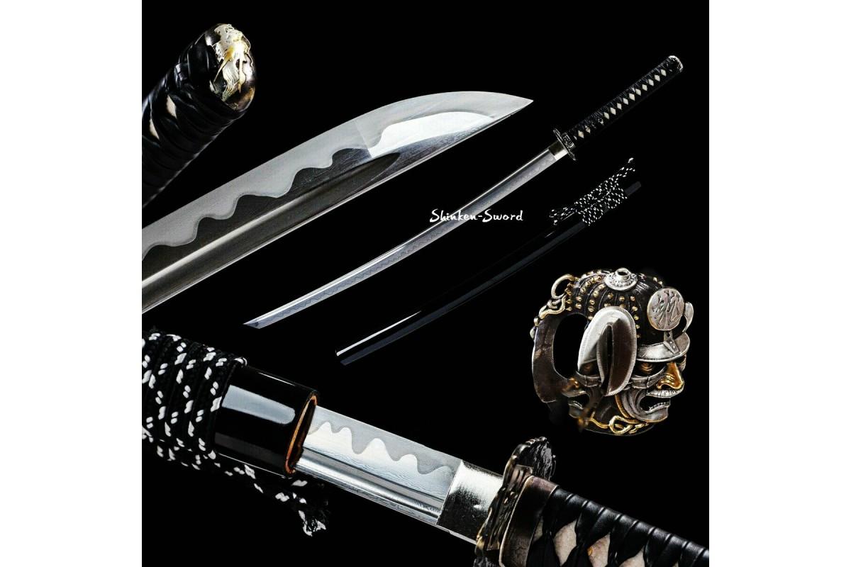 Handforge Battle Ready Folded Steel Japanese Katana Samurai Sword Full Tang Blade