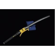 Japanese Samurai Katana Sword Clay Tempered T10 Steel Razor Sharp Blade