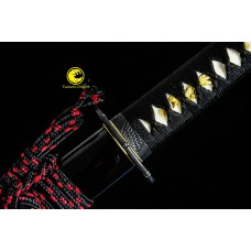 Battle Ready Clay Tempered Steel Blade Japanese Daisho Katana Wakizashi Sword