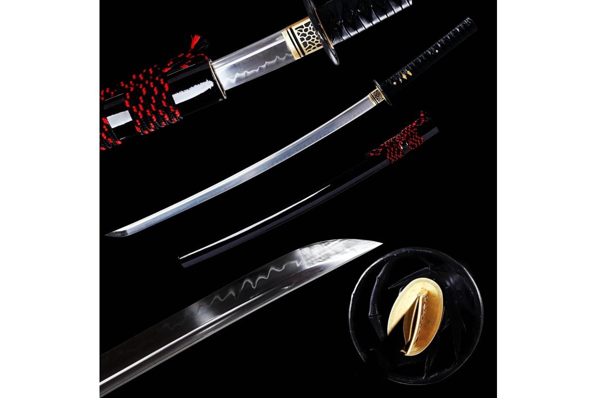 Battle Ready Clay Tempered T10 Steel Blade Japanese Katana Samurai Sword